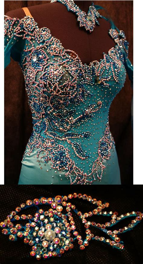 pattern latin dress 164 best applique and accessories for ballroom dress