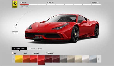 Ferrari Configurator by Ferrari 458 Speciale Configurator New Track Footage