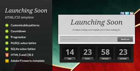Launching Soon Template Free by Launching Soon Premium Coming Soon Template By Equiet