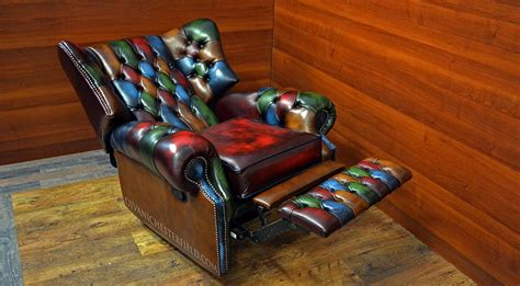 chesterfield recliner chair uk multi colour chesterfield patchwork monk recliner chair