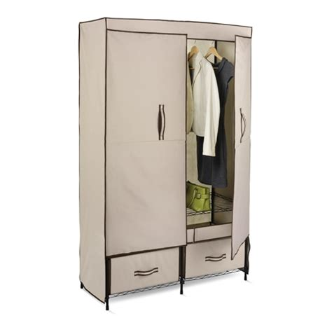 Storage Closet With Doors by Portable Storage Closet In Clothing Racks And Wardrobes