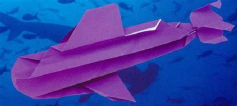 How To Make A Paper Submarine - origami on the move