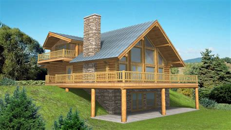 Log Home Floor Plans With Garage And Basement | log home plans with basement log home plans with garages mountain log home plans mexzhouse com