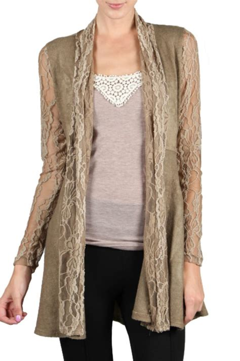 Lace Cardigan a reve brown lace cardigan from by baretrees