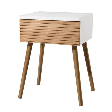 table de nuit scandinave table de chevet design scandinave bois et blanc ella so