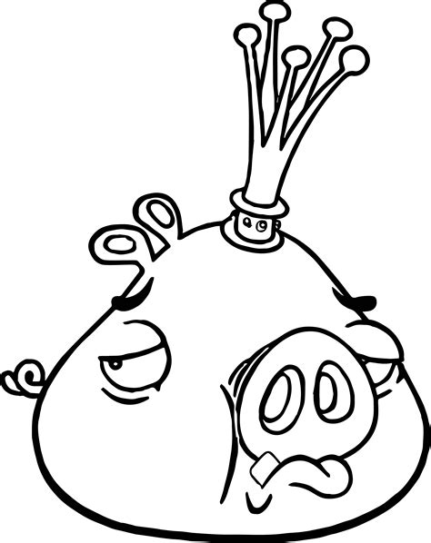 king pig coloring page king pig sad coloring page wecoloringpage