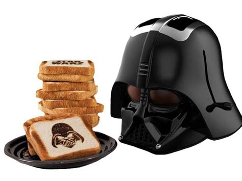 Toaster Darth Vader helmet shaped darth vader toaster takes bread to the side cnet