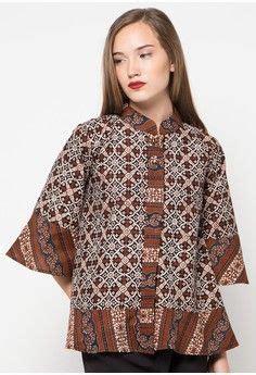 Baju Atasan Batik Wanita Cantik 4 45 model baju batik atasan wanita terbaru 2018