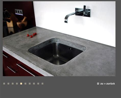 Arbeitsplatte granit, beton, holz oder marmor