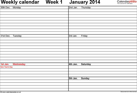 daily planner 2014 pdf weekly calendar 2014 uk free printable templates for pdf