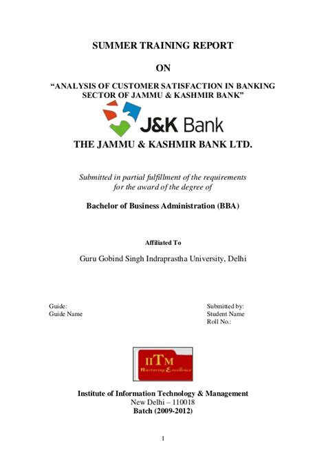 Research Paper On Fundamental Analysis Of Banking Sector by Customer Satisfaction In Service Industry Thesis 187 Mba Projectsfree Mba Projectssle Mba