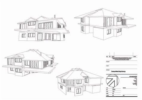 architecture home design drawing 3d house drawing vector