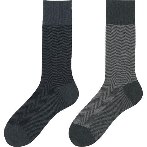 herringbone pattern socks uniqlo gray heattech herringbone socks 2 pack for men