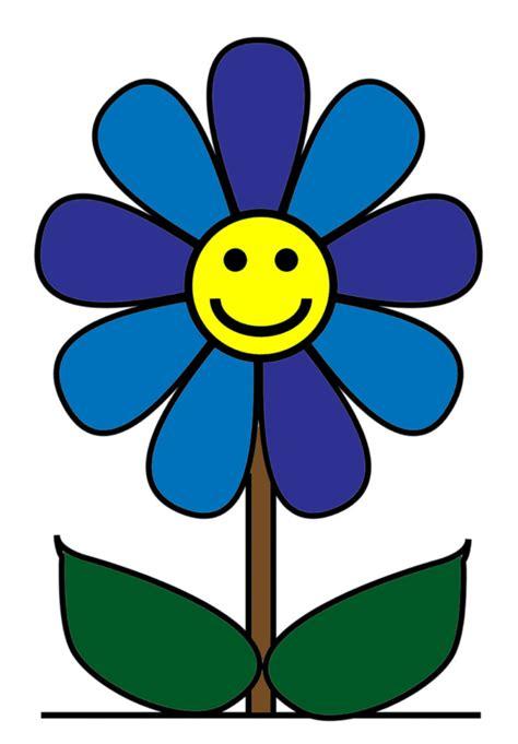 fiore disegno sta disegno di fiore con sorriso a colori