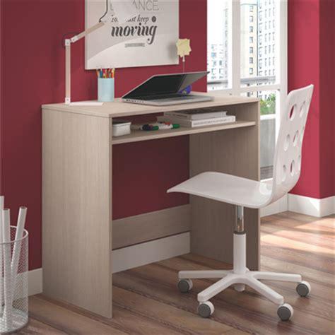 mesa ordenador estudiante color roble  poco fondo