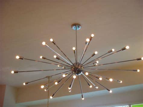 large light fixtures modern extra large chrome atomic sputnik starburst light fixture