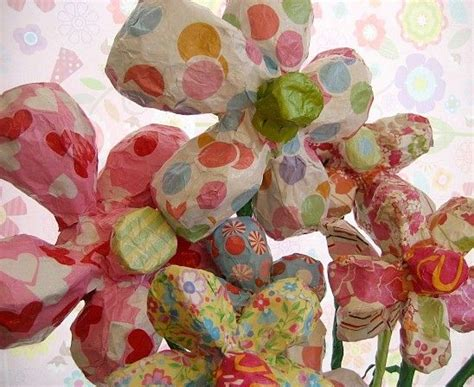 How To Make A Paper Mache Flower - the world s catalog of ideas