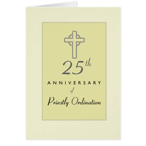 free printable ordination anniversary cards 25th anniversary of priest ordination cross greeting card