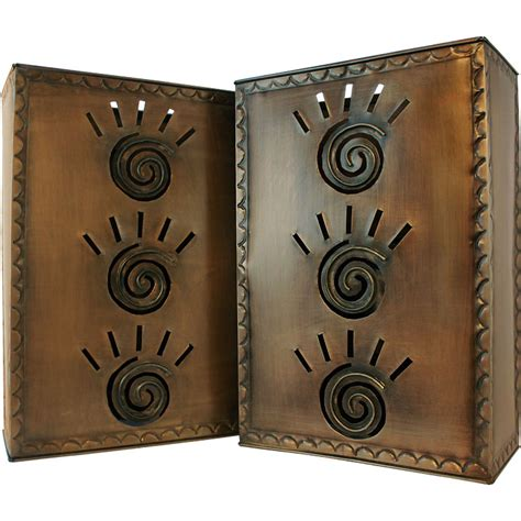 Mexican Wall Sconces mexican tin lighting collection square taos wall sconce lamw07