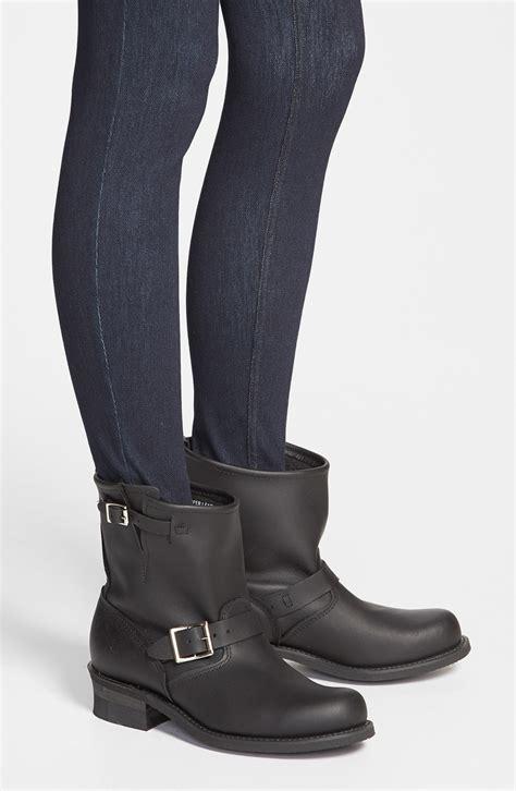 frye engineer boots frye engineer 8r boots in black lyst