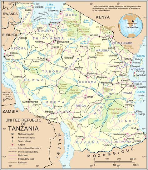 lafrica mappa tanzania mappa politica