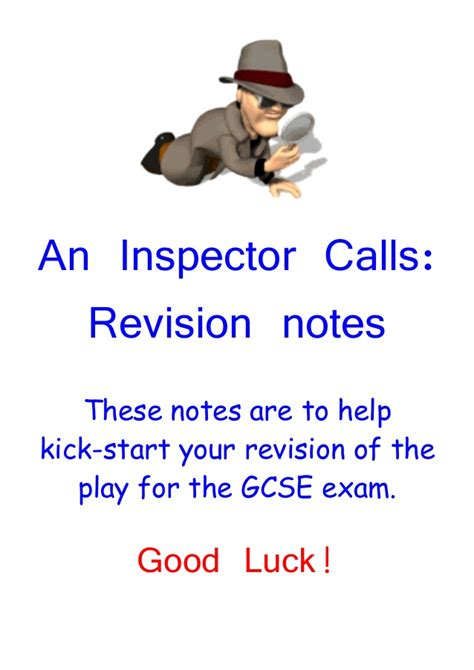 an inspector calls themes slideshare inspector calls revision