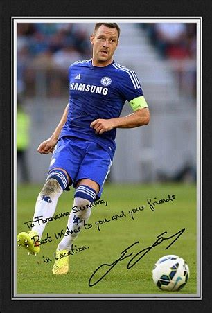 Chelsea Signature 9 chelsea s terry warns fan autographed picture from