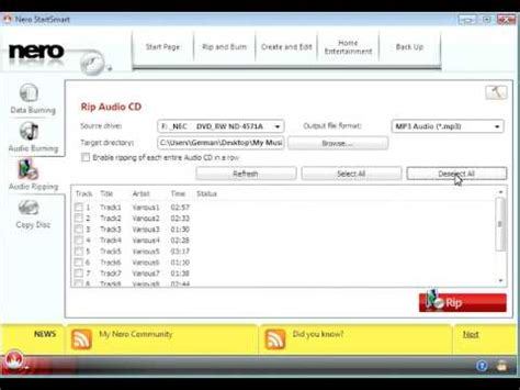 youtube to cd format converter how to convert an audio cd to mp3 files using nero youtube