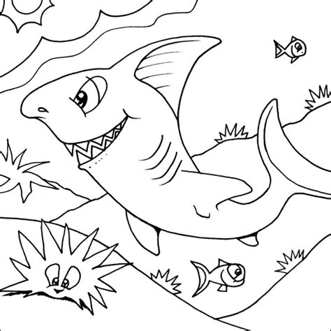 funny shark coloring page shark coloring pages coloring kids