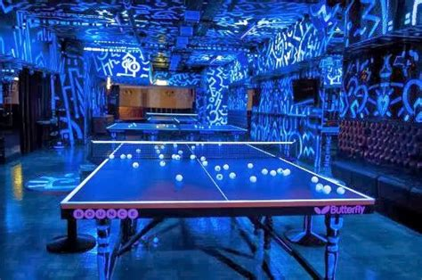 Bars With Ping Pong Tables by Bounce Bar Glow In The Ping Pong Bar In Holburn