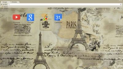 theme chrome vintage eiffel tower chrome themes themebeta