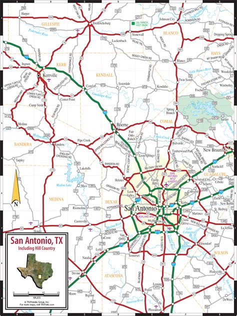 texas hill country road trip map san antonio texas hill country map
