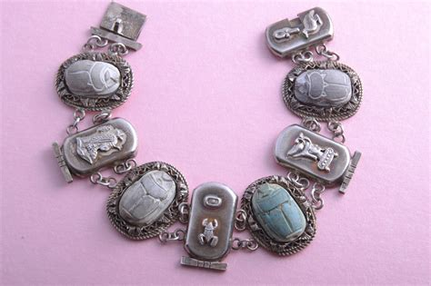 steunk jewelry ancient scarab beetle bracelet jewelry