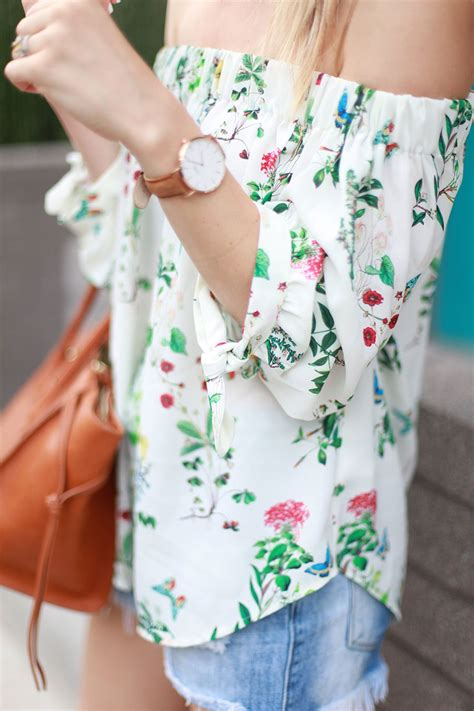 Shoulder Floral Top floral the shoulder top summer fashion by
