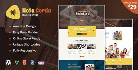 wordpress themes music education notacorda music school wordpress theme free nulled themes