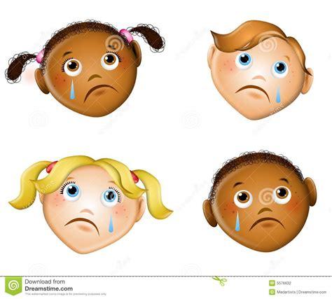 imagenes de niños alegres y tristes caras tristes de ni 241 os stock de ilustraci 243 n ilustraci 243 n