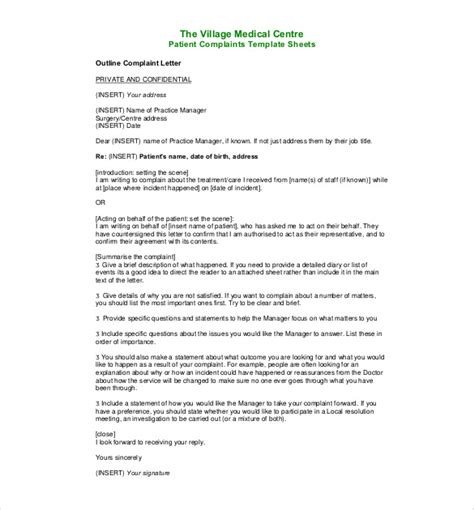 Formal Complaint Letter Against Manager 15 complaint letters templates hr templates free