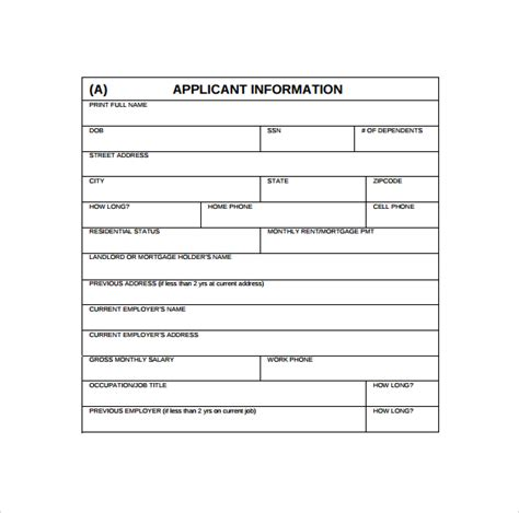 Credit Application Form Template New Zealand Credit Application Forms 9 Documents Free In