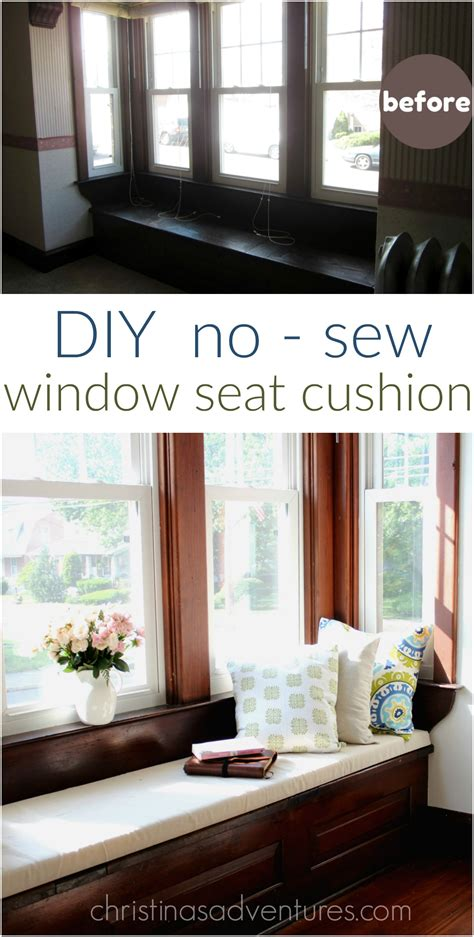 window chair diy window seat cushion christinas adventures