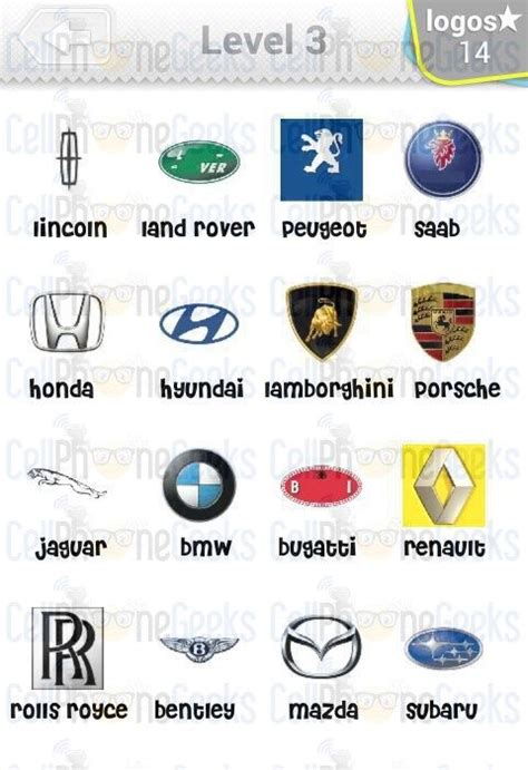 logo quiz cars answers level  logo quiz cars answers logos cars games