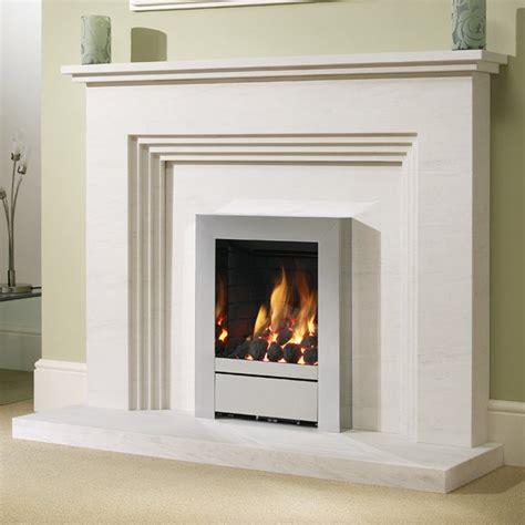 modern fireplace surrounds be modern othello 54 limestone fireplace surround