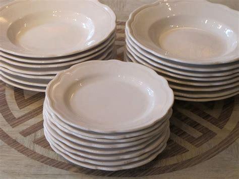 thth cent french white china plates ceramics