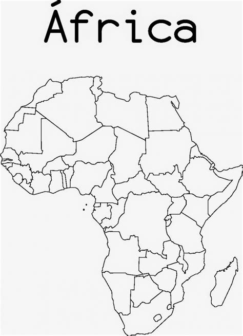 fotos de frica para imprimir dibujos de mapas de africa y paises para colorear