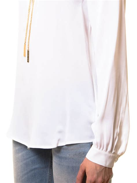 Neackless Chain Blouse michael kors blouse necklace collar blouses