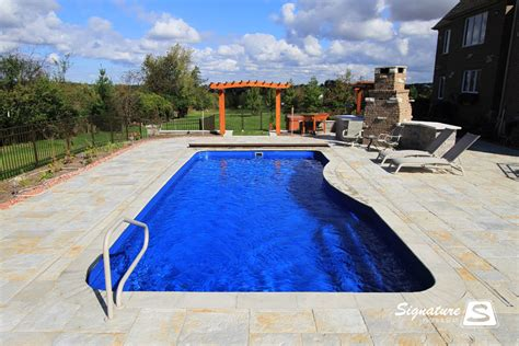 leisure pools moroccan style fiberglass pool signature