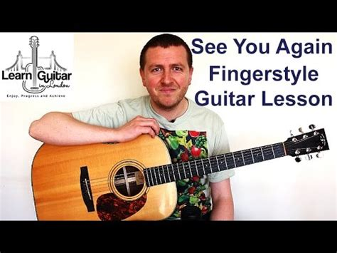 tutorial fingerstyle guitar see you again see you again wiz khalifa fingerstyle guitar lesson