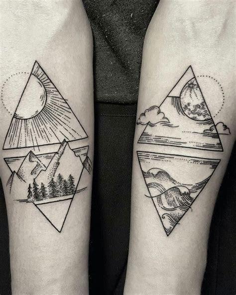 geometric tattoo couple stonexxstone tumblr stonexxstone ig