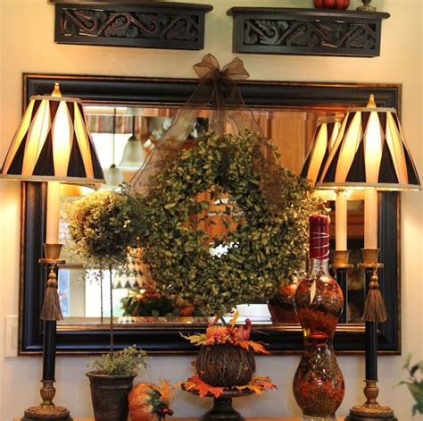 fall buffet dresser decorations i ve really enjoyed this