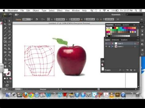 tutorial illustrator mesh tool adobe illustrator using the mesh tool creating an apple