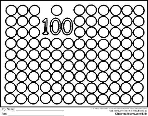 Coloring Pages 100 Day Countdown Coloring Pages 100 Coloring Pages